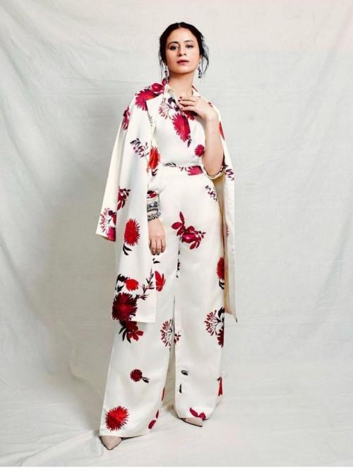 Rasika Duggal's white printed outfit please - SeenIt