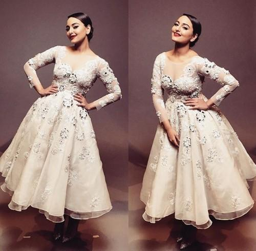 Sonakshi Sinha wearing Abu Jani and Sandeep Khosla at IIFA 2016. Yay or Nay? - SeenIt