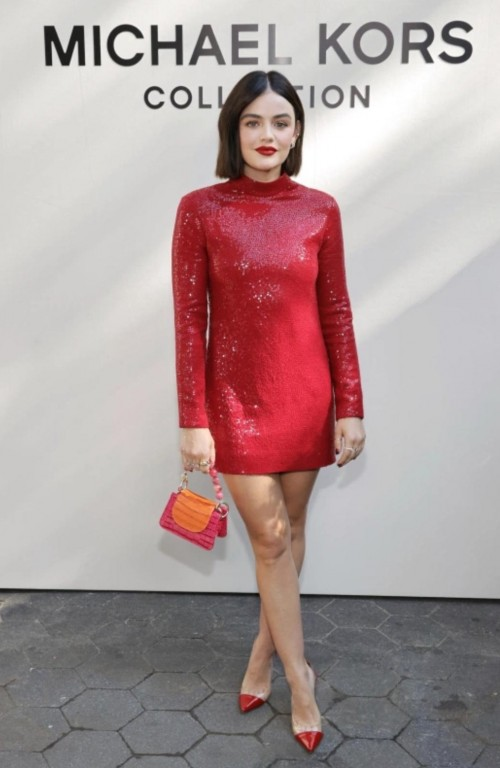 Yay or nay? Lucy Hale attends the Spring/Summer 2022 Michael Kors Collection Runway Show at Tavern on the Green in New York City - SeenIt