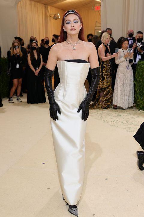 Yay or nay? Gigi Hadid  attends the Meta gala 2021 wearing a Prada gown - SeenIt