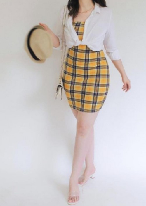 Looking for similar checkered bodycon dress - SeenIt