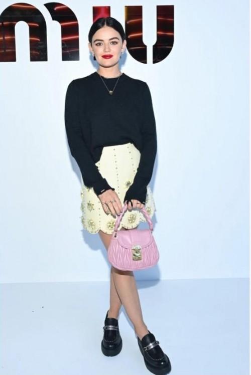 Yay or nay? Lucy Hale at Miu Miu during the Paris fashion week 2021 - SeenIt