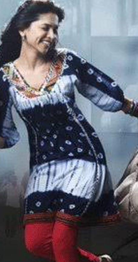 need a similar black and white kurta like deepika wore - SeenIt