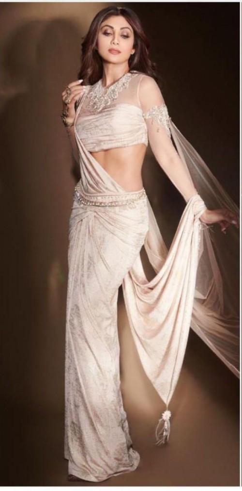 Yay or nay? Shilpa Shetty seen wearing a  Tarun Tahiliani saree recently for a shoot - SeenIt
