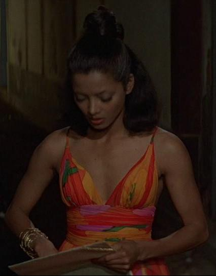 Looking for a dress similar to this gorgeous maxi in the James Bond movie Moonraker! - SeenIt