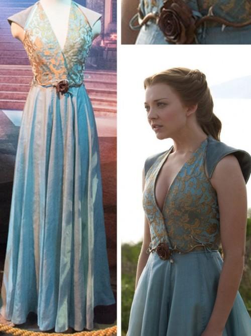 want a similar blue maxi dress with princess neckline - SeenIt