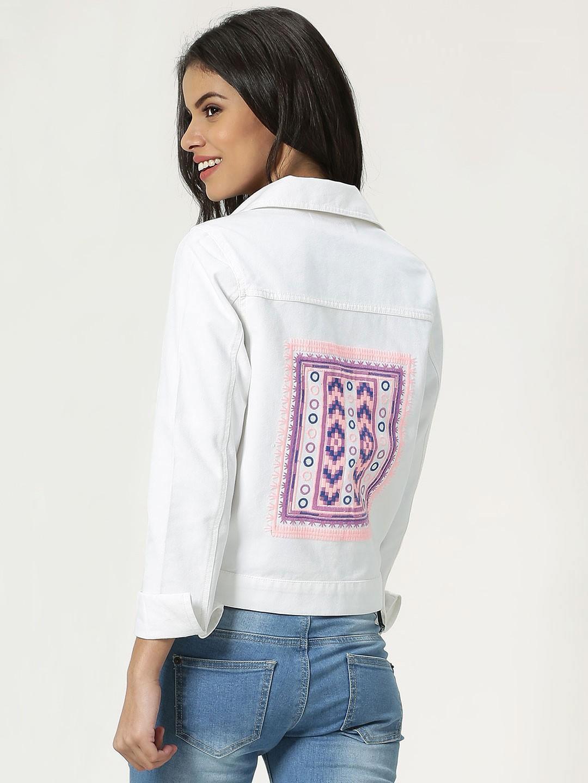 01449b5e197c Harry Sejal X Koovs Back Embroidery Detail Denim Jacket - SeenIt
