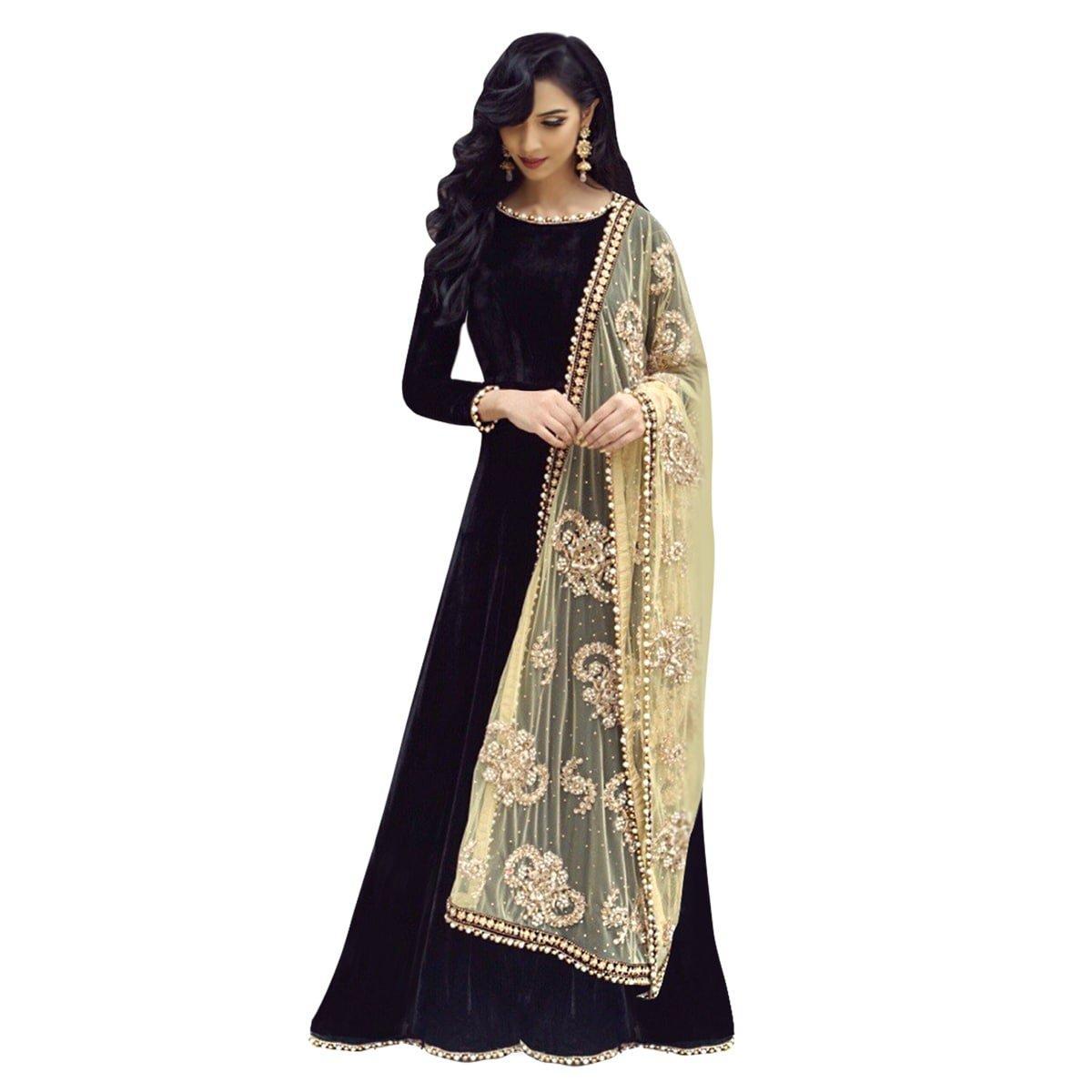2ff5a2573d Active Womens Taffeta Silk & Net Dupatta Designer Anarkali Gown(free Size)  - SeenIt