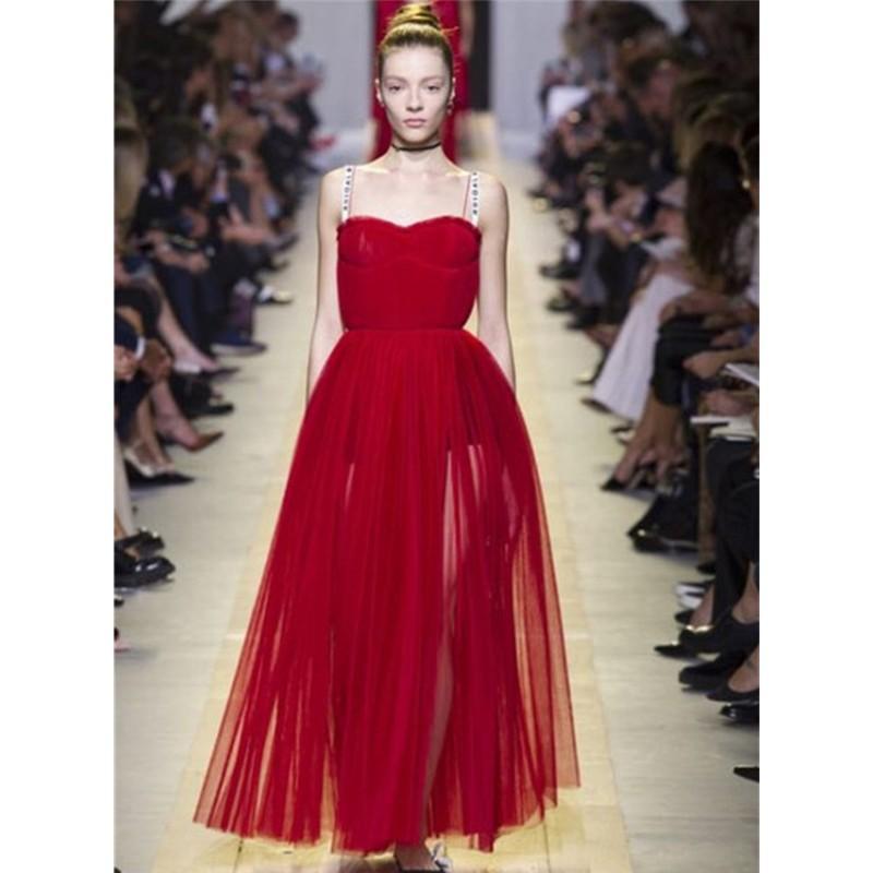 fc0e27b188 Strap Tube Long Net Dress - SeenIt