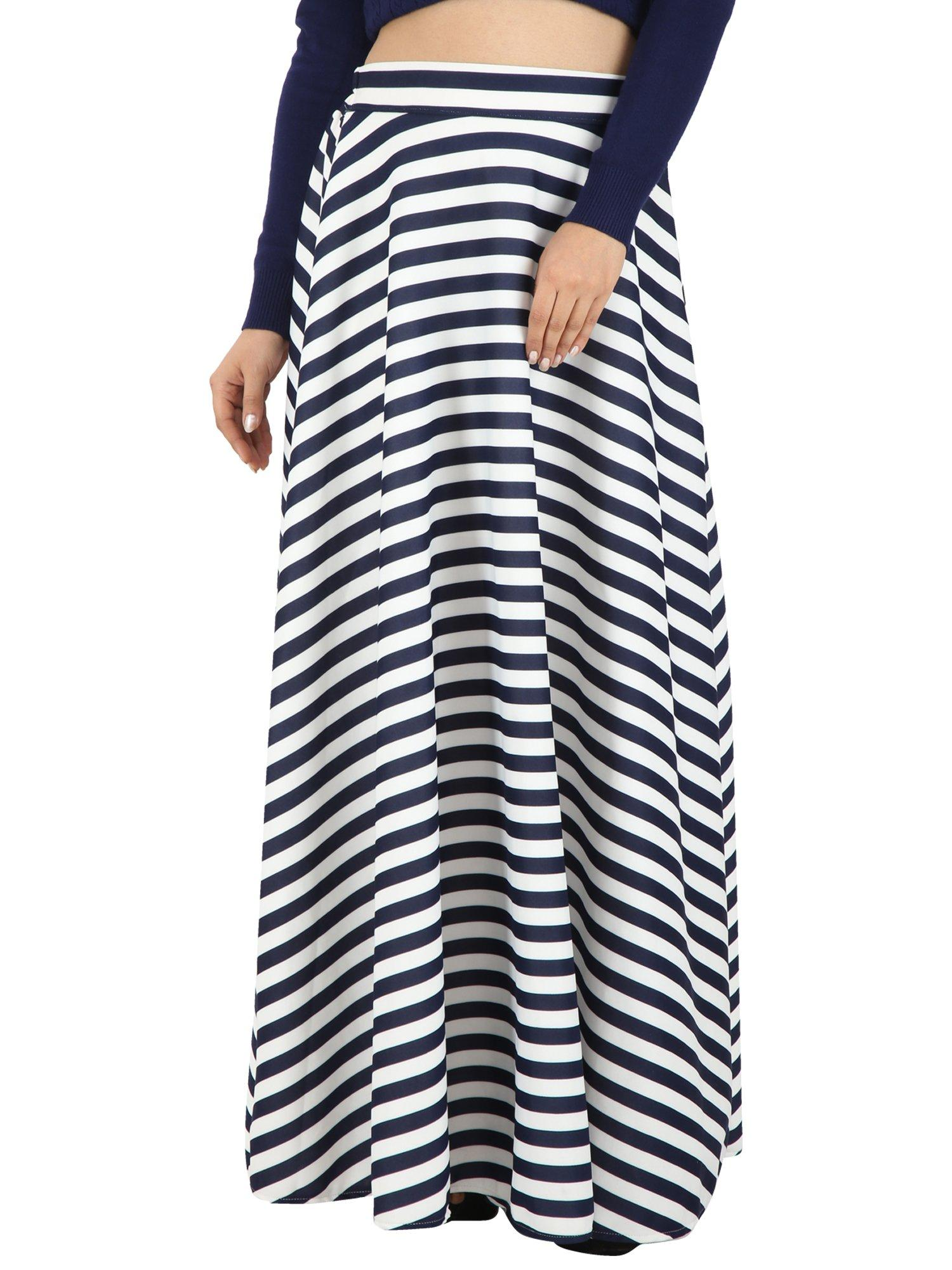 24b50ef1c5 Navy Blue Striped Skirt - SeenIt