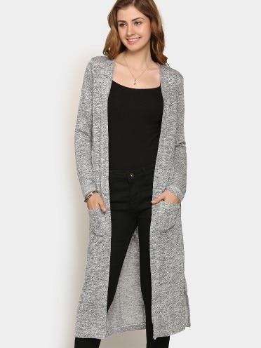 d692c8d296f Grey Regular Fit Long Shrug - SeenIt