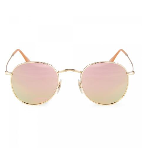 dc0ac69753 Rose Gold Clubmaster Metal Unisex Sunglasses - SeenIt