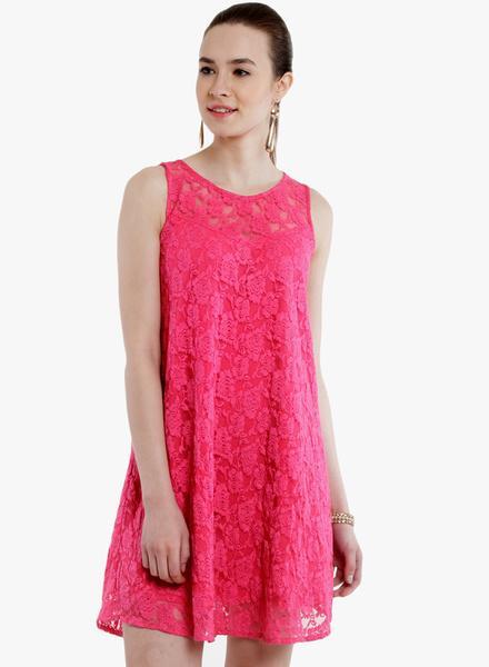 c82b7faa017f Nunpink Coloured Solid Shift Dress - SeenIt. Jabong. Nunpink Coloured Solid  Shift Dress. Buy. Abiti Bella Pink Coloured Solid Skater ...