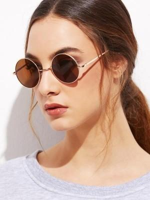667963125a Sunglasses Brown Women Round Gandhi - SeenIt