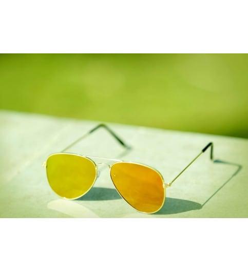 738add78388 Yellow Mercury Gold Aviator Sunglasses - SeenIt