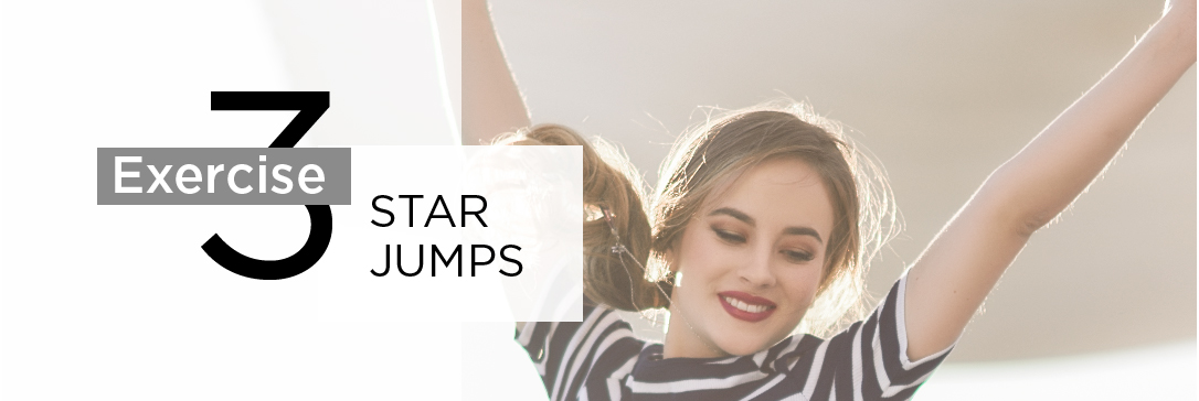 Exercise 3:  Star Jumps (Cardio)