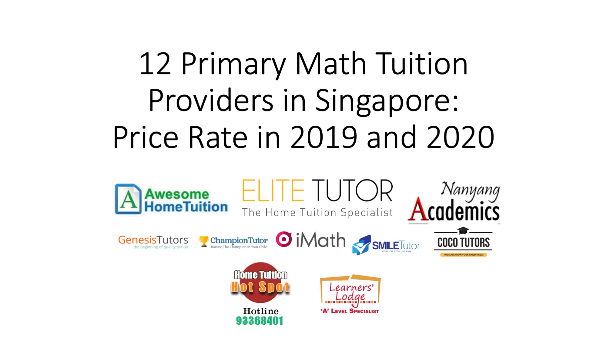 12 Primary Math Tuition Providers in Singapore: Price Rate in 2019 and 2020