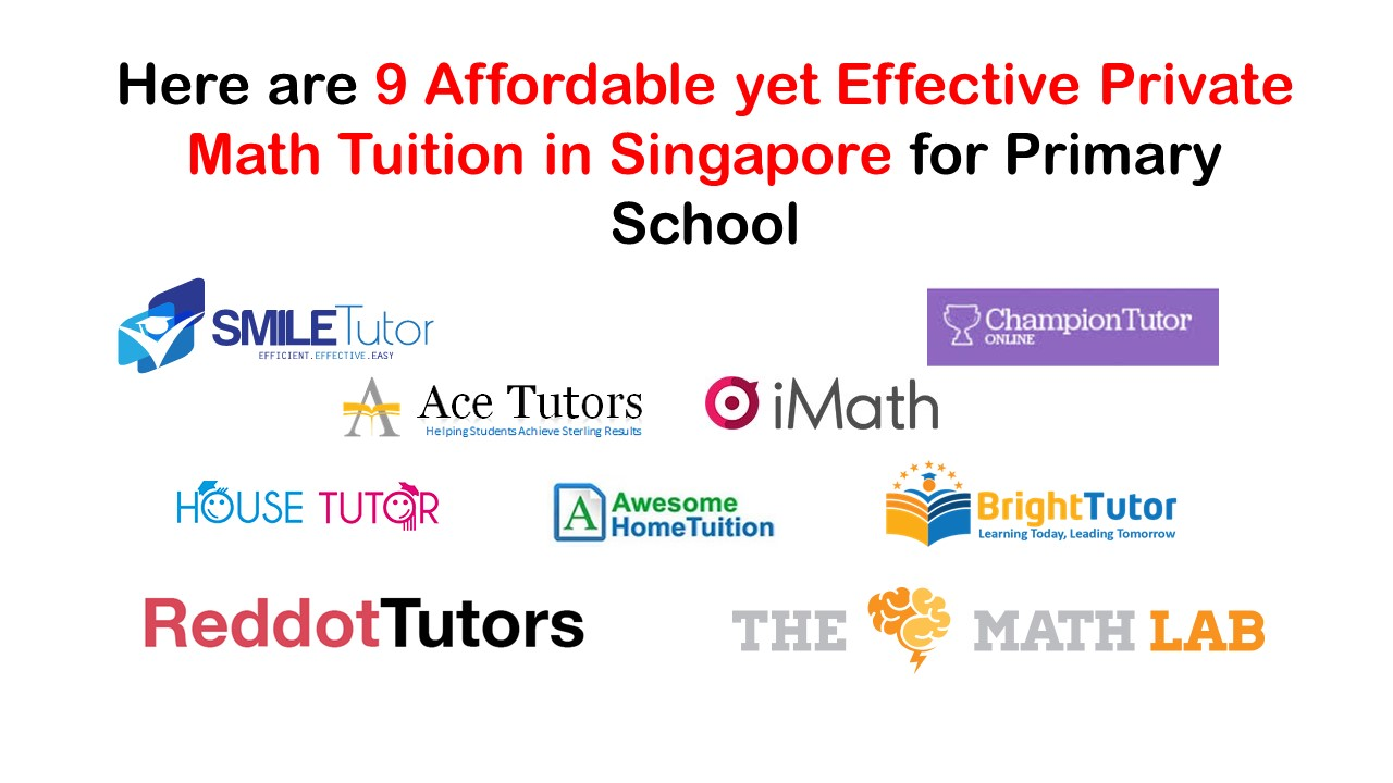 Here are 9 Affordable yet Effective Private Math Tuition in Singapore for Primary School
