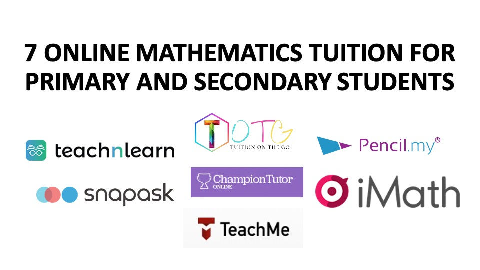7 Online Mathematics Tuition for Primary and Secondary Students