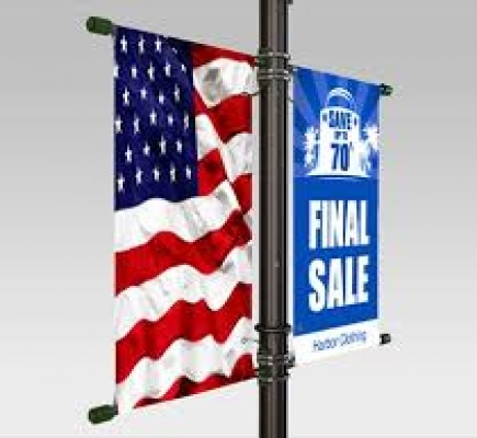 Hanging banners for trade shows - Devid Steve, Blues