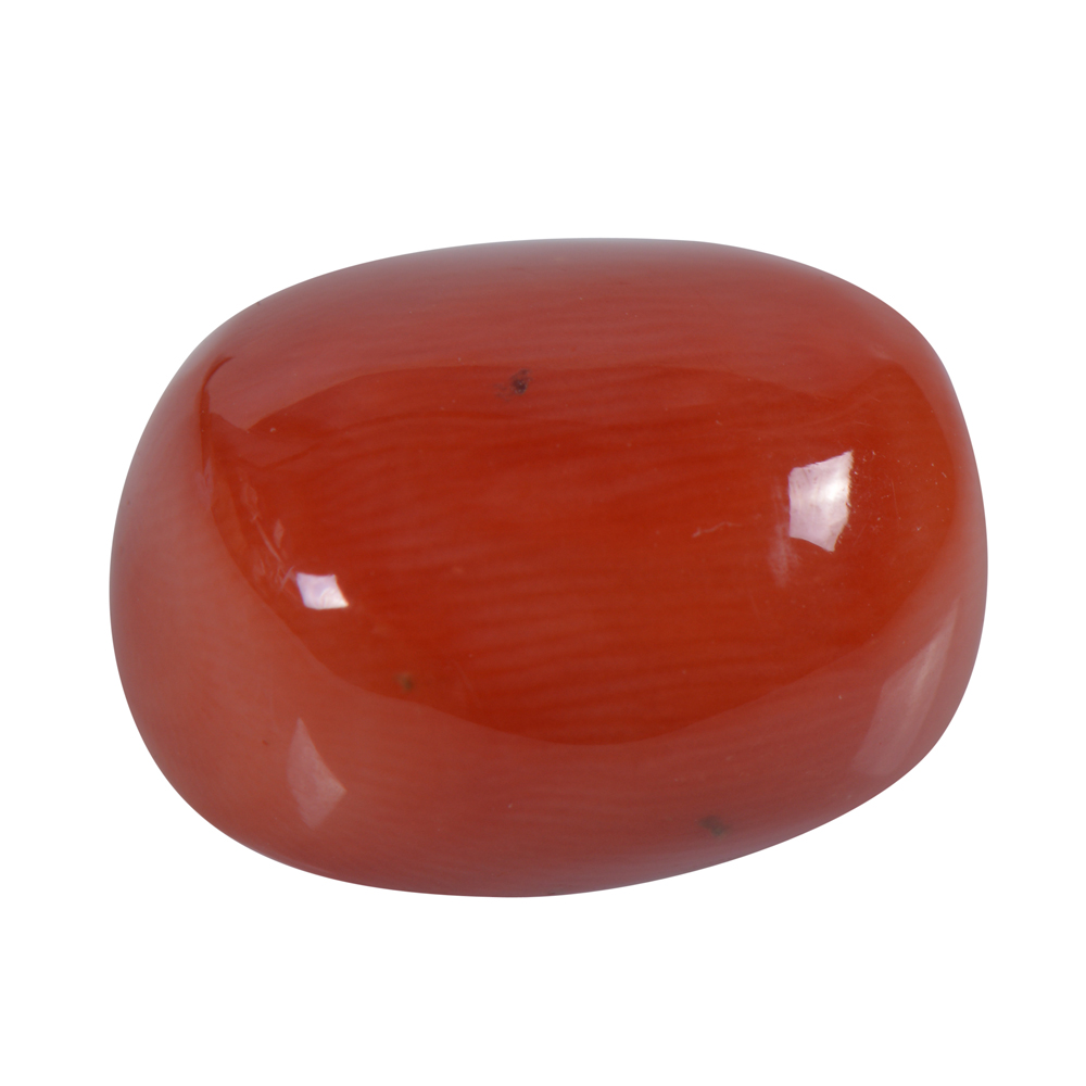 13.62 Cts Certified Natural Red Coral Loose Gemstone