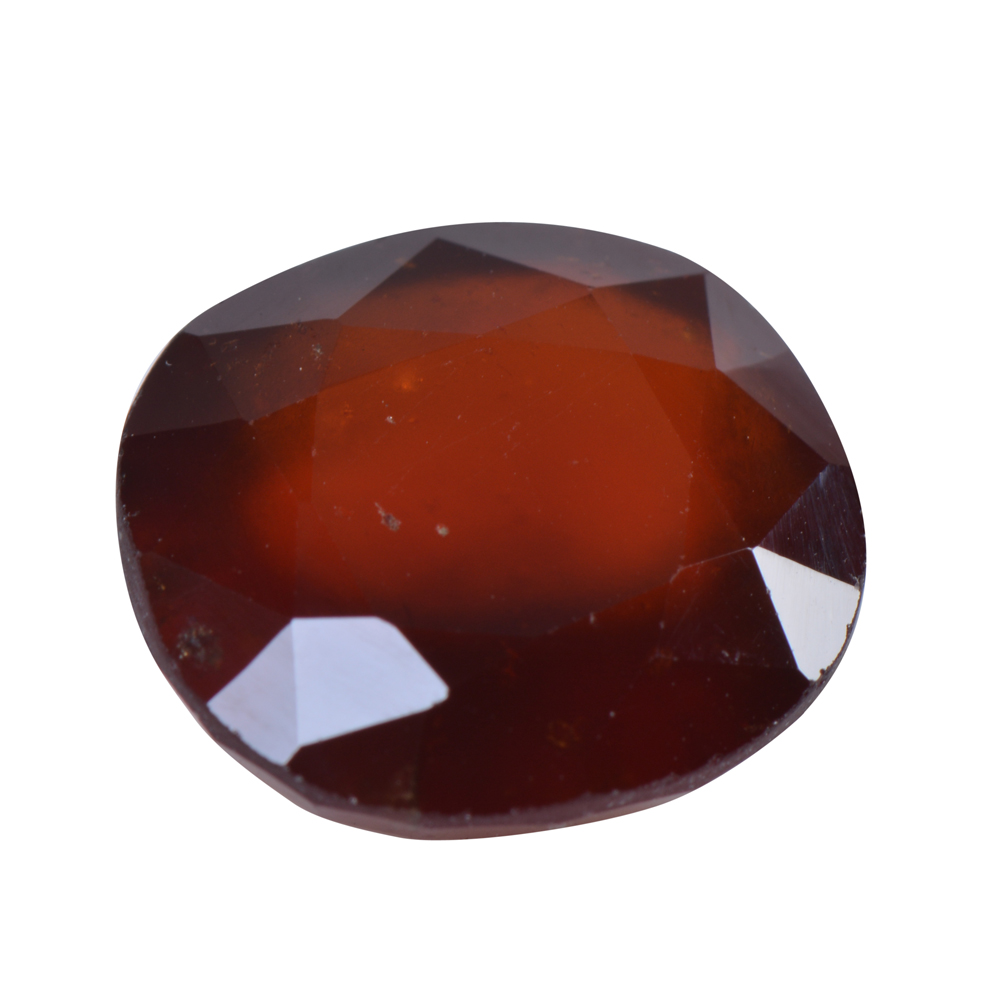 7.63 Ct Certified Natural Hessonite Garnet (Gomed) Loose Gemstone