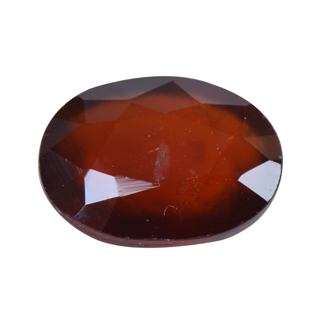 6.8 Ct Certified Natural Hessonite Garnet (Gomed) Loose Gemstone