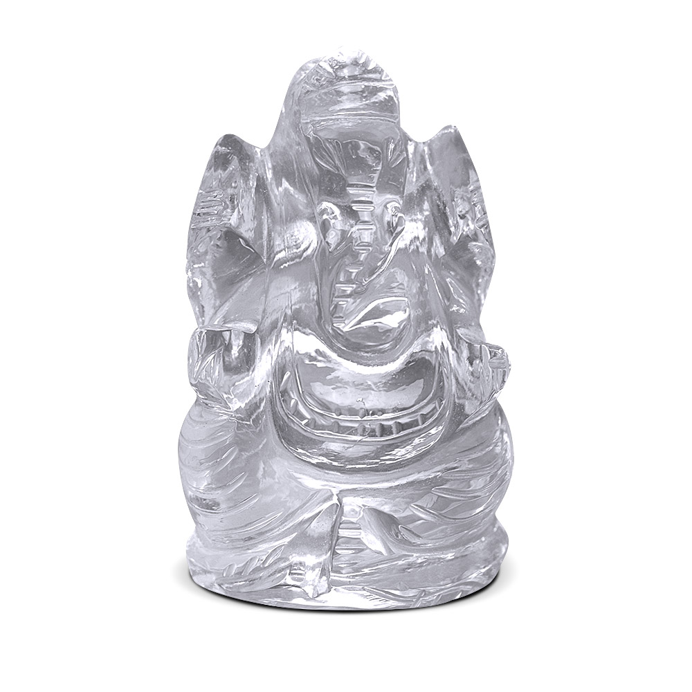Natural Quartz Crystal/ Sphatik Lord ganesh 77 gm