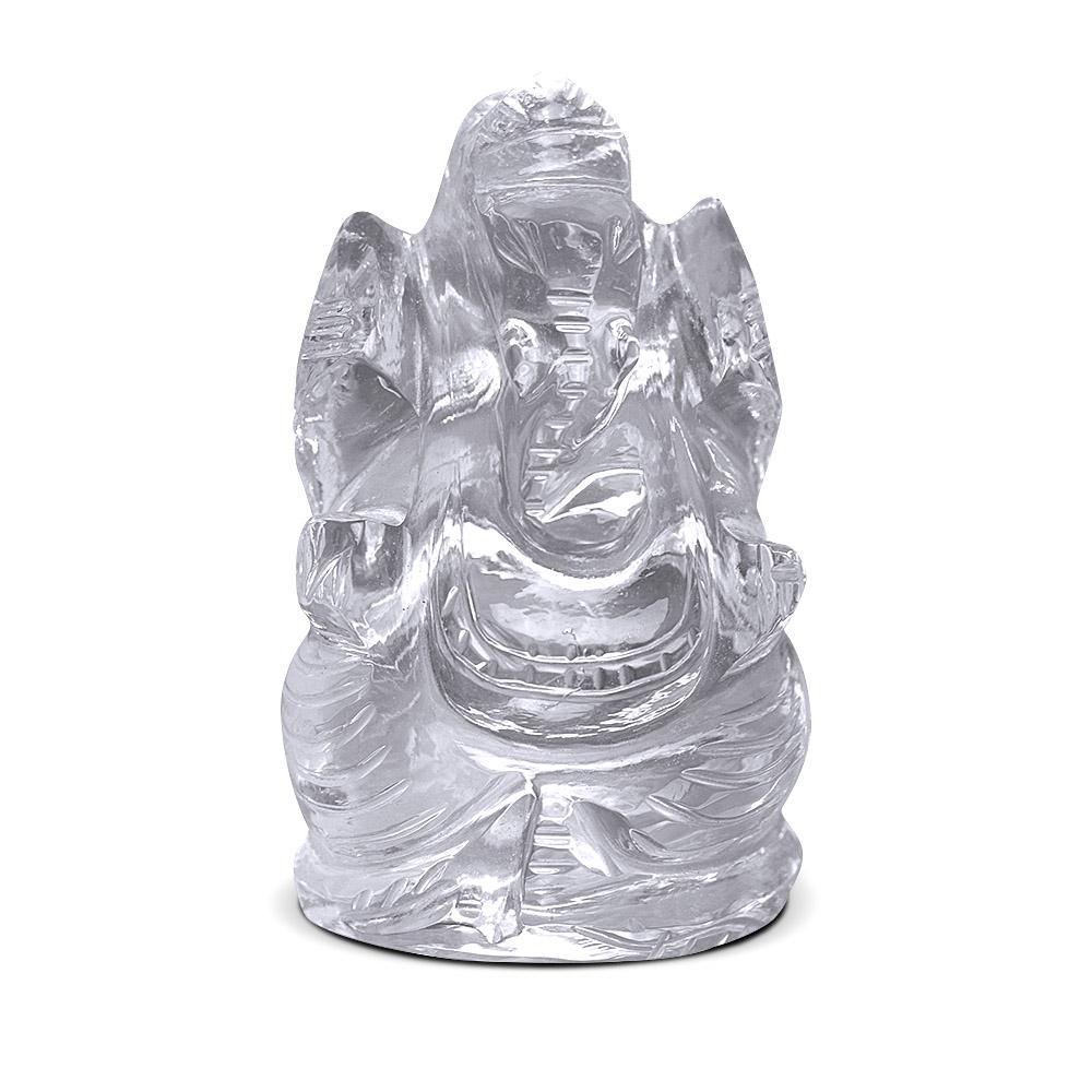Natural Quartz Crystal/ Sphatik Lord ganesh 7 to 9 gm Approx