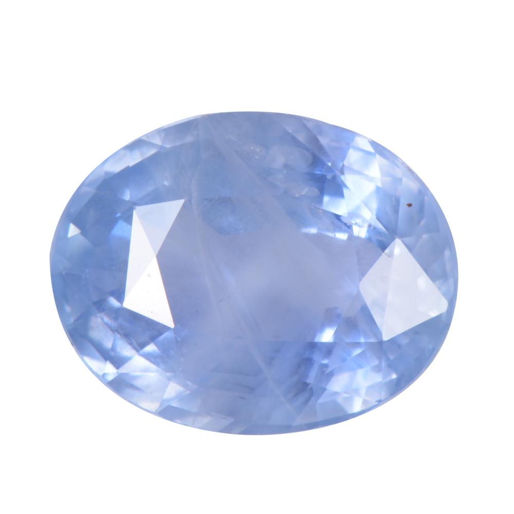 8.28 Cts Certified Ceylon Blue Sapphire / Neelam Loose Gemstone