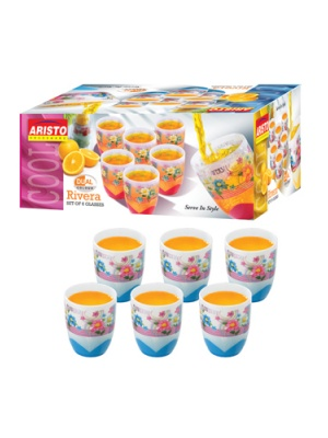 Aristo Rivera 6 Glasses Set