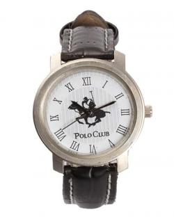 Polo Club Mens White Dial Watch