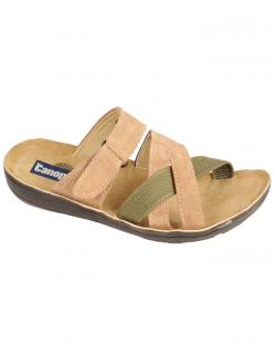 Canopus Mens Brown With Green Casual Sandals