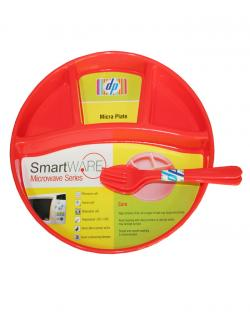 Smart Ware Micra Plate (Red)