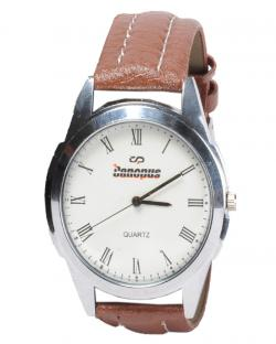 Canopus Men White Dial Watch Brown Belt