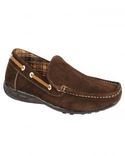 Canopus Dark Brown Mens Loafers