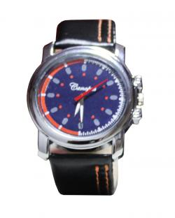 Canopus Men Blue Dial Watch ( Orange & Blue Dial)