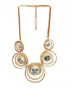 Fashion Jewellery Round Patterned Necklace