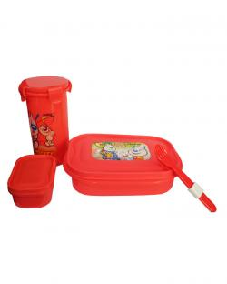 Kids Lunch Box Set (Red)