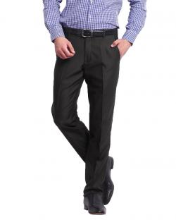 Canopus Brown Stripes Slim Fit Formal Trouser For Mens