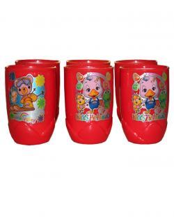 Kids Drinking Glass Set (Red)