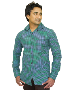Yepvi Green And Black Checked Shirt