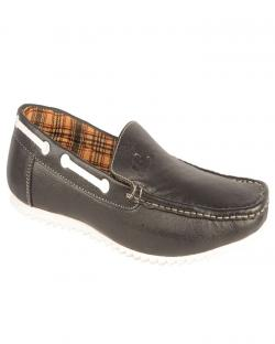 Canopus Dark Black Mens Loafers