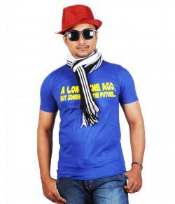 Yepvi Men Blue(Long Time Ago) Printed T-Shirt