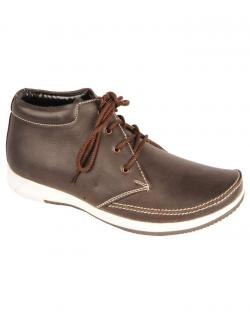 Canopus Brown With White Sole Casual Shoes For Mens
