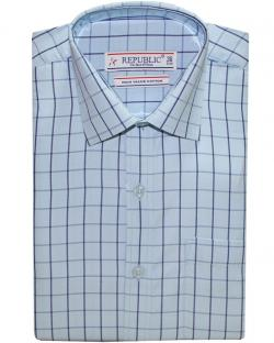 Republic Skyblue Checked Shirt