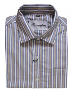 Canopus white and blue Striped Shirt