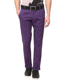 Yepvi Purple Trouser For Men
