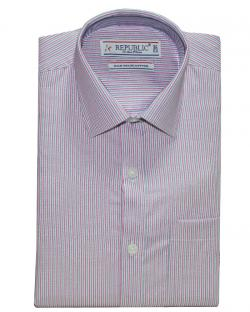 Republic pink with Blue&White Striped Shirt