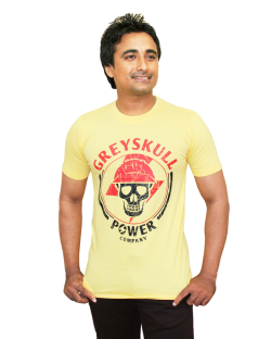 Yepvi Men Lemon Yellow Printed T-Shirt